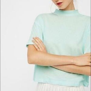 Free People The Need You Tee in Mint color
